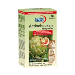 کپسول آرتی شوک یوروویتال-حاوی ۴۰۰ میلی گرم از عصاره برگ آرتی شوک-تنظیم گوارش چربی بصورت طبیعی-جلوگیری از اثرات مضر غذاهای پر چرب