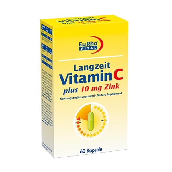 کپسول ویتامین C+زینک یوروویتال حاوی ویتامین C به میزان 300 میلی گرم و روی به میزان 10 میلی گرم می باشد. هنگام بروز استرس های فیزیکی بعنوان تقویت کننده و عامل اطمینان بخش در سیستم ایمنی بدن محسوب گردد.