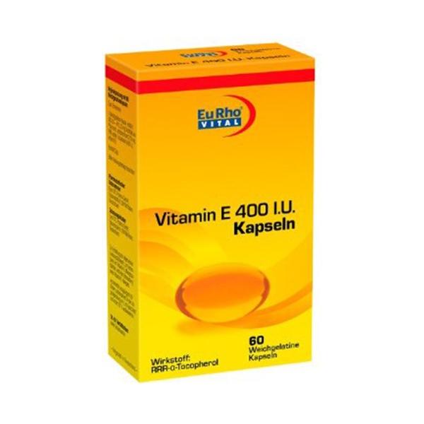 ویتامین E400 یوروویتال-مناسب برای بعد از تمرینات ورزشی-محافظت از سلول های مغزی موثر در باروری خانم ها و آقایان