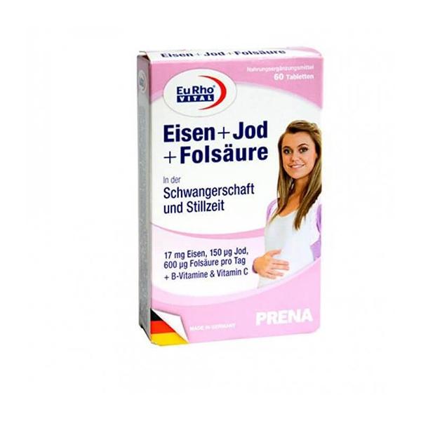 قرص آیرون، ید و فولیک اسید یوروویتال-دوران بارداری-پیش از بارداری-تامین نیازهای مادر-کمک به رشد جنین