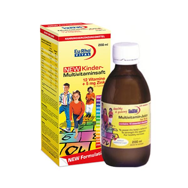 شربت کیندر مولتی ویتامین یوروویتال | EuRho Vital Multivitamin Kinder