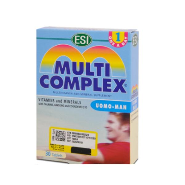 قرص مولتی کمپلکس آقایان ای اس آی-حاوی ۲۸ نوع ویتامین و مواد معدنی ارزشمند-به بازسازى و ارتقا قواى جسمى و ذهنى