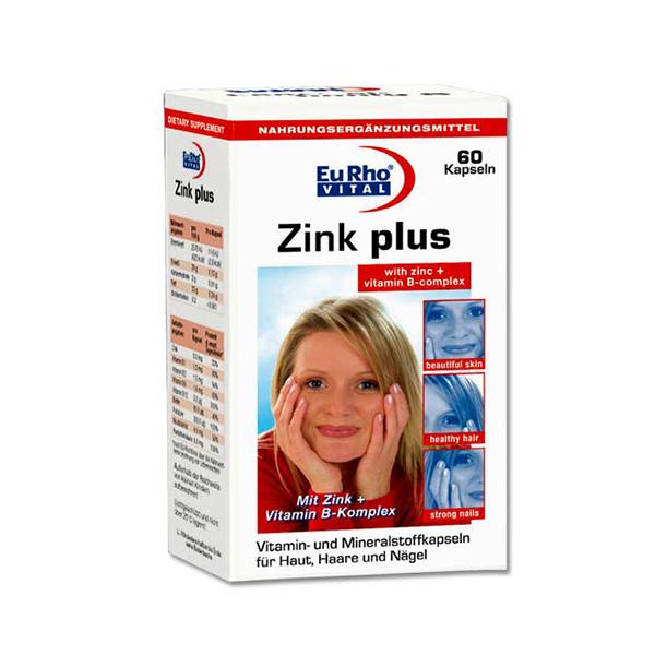 سافت ژل زینک پلاس همراه با ویتامین های گروه B یورو ویتال   Zinc Plus 5mg