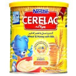 سرلاک گندم و عسل به همراه شیر نستله -مناسب کودکان از پایان 12 ماهگی -کمک به تقویت سیستم دفاعی طبیعی بدن کودک