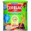 سرلاک گندم و تکه های خرما با شیر نستله-حاوی انواع ویتامین و مواد معدنی مورد نیاز کودک
