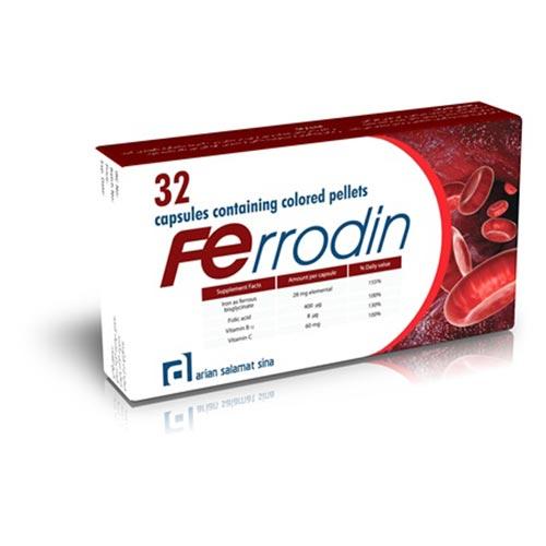 کپسول فرو-دین آرین سلامت سینا-مناسب برای بانوان در سنین باروری و شیردهی - کمک به درمان ریزش مو