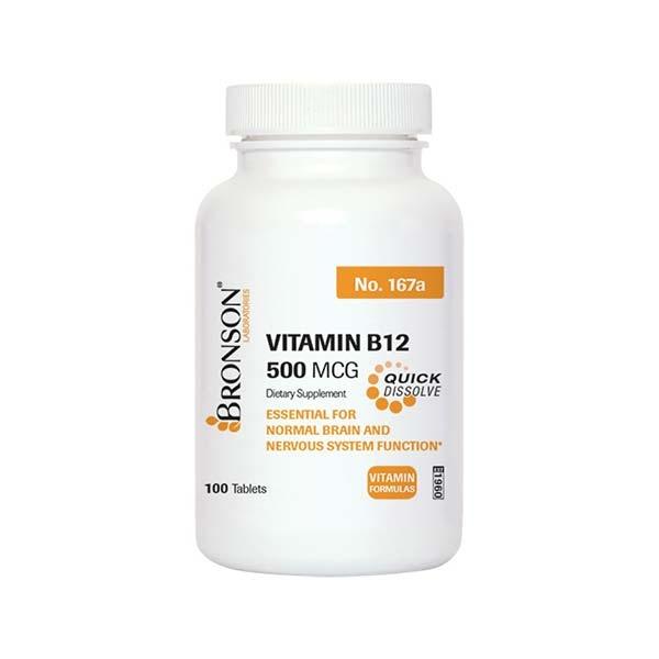 قرص ویتامین ب 12 500 mcg برانسون