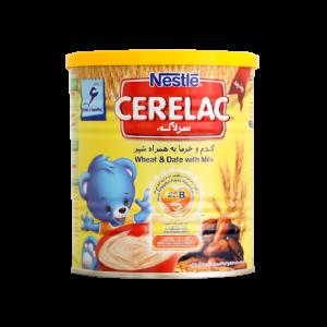 سرلاک گندم و خرما به همراه شیر نستله- مناسب کودکان از پایان 6 ماهگی-ریز مغذی های لازم برای رشد و تکامل کودکان