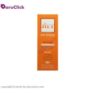 کرم ضد آفتاب فاقد چربی رنگی SPF30 دکتر ژیلا