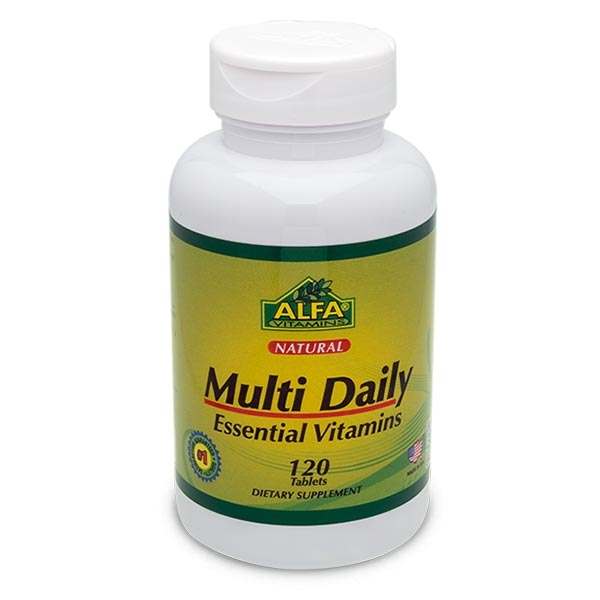 مولتی دیلی آلفا ویتامین- 120 کپسول -مولتی ویتامین -تامین انرژی مورد نیاز بدندرمان مشکلات چشم و بینایی
