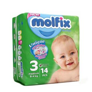 پوشک سایز ۳ کودکان 14 عددی مولفیکس