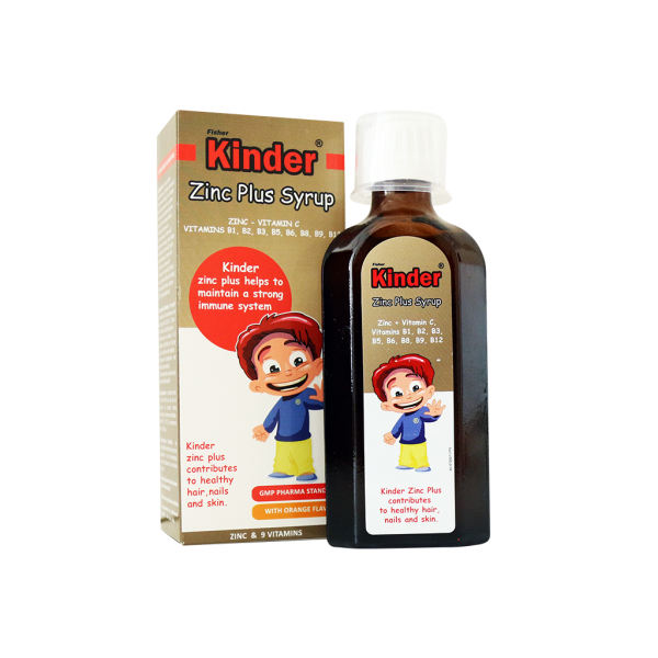 شربت زینک پلاس فیشر کیندر | Fisher Kinder Zinc Plus Syrup
