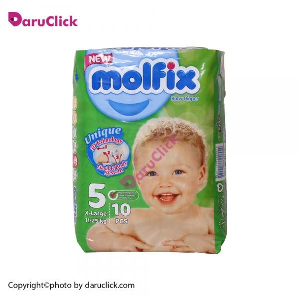 پوشک سایز ۵ کودکان ۱۱ تا ۲۵ کیلوگرم مولفیکس | Molfix Baby Diaper Number 5