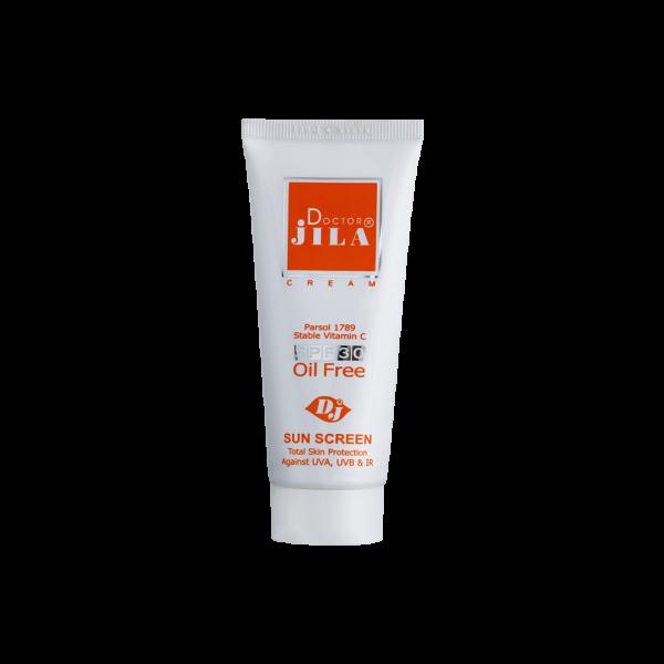 کرم ضد آفتاب فاقد چربی SPF30 دکتر ژیلا-مناسب انواع پوست به ویژه پوست های چرب