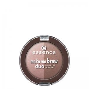 سایه ابرو دوتایی Make Me Brow اسنس-حاوی دو رنگ سایه- بافت نرم و لطیف -دارای رنگدانه های قوی -ماندگاری بالا