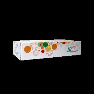 دستمال کاغذی جعبه ای 100 برگ دولا پنبه ریز -ساخته شده از خمیر الیاف سلولزی و با رنگ سفید-بسیار نرم و لطیف با جذب بالا