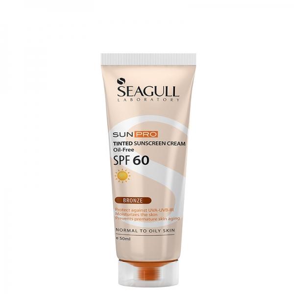 کرم ضدآفتاب رنگی SPF60 سی گل - فاقد چربی - مناسب پوستهای معمولی تا چرب