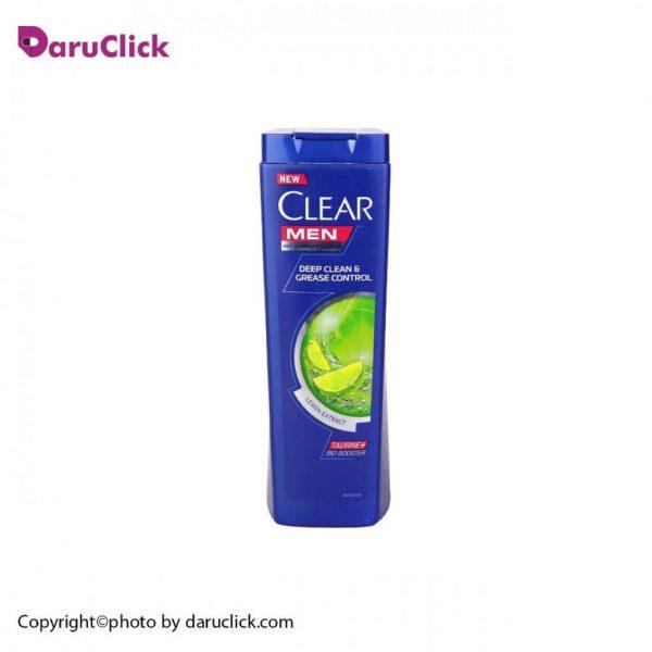 شامپو ضد شوره کنترل کننده چربی و پاکسازی پوست سر آقایان کلیر