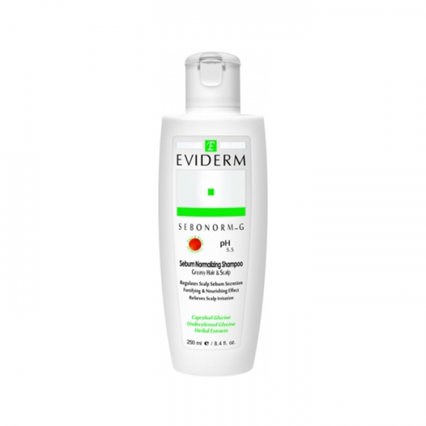 شامپو متعادل کننده چربی سبونورم جی اویدرم - مناسب مو و پوست سر چرب