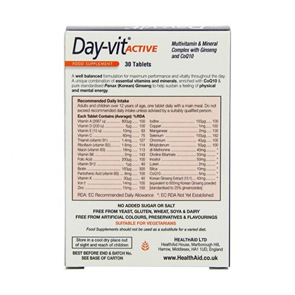 قرص دی ویت اکتیو هلث اید - مولتی ویتامین و مینرال