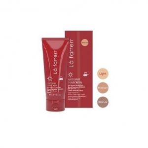 کرم ضد آفتاب و ضد لک رنگی SPF40 لافارر - مناسب پوست های خشک و معمولی - رنگ متوسط