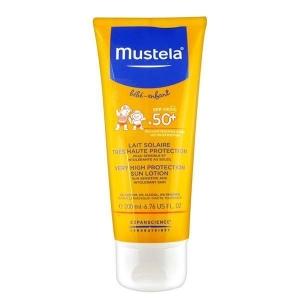لوسیون ضد آفتاب SPF50 کودک موستلا