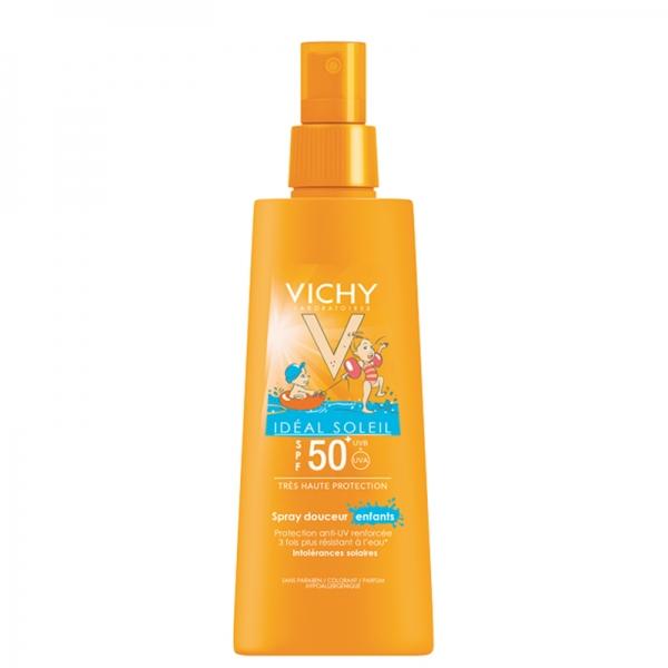 اسپری ضد آفتاب SPF50 صورت و بدن کودکان ویشی