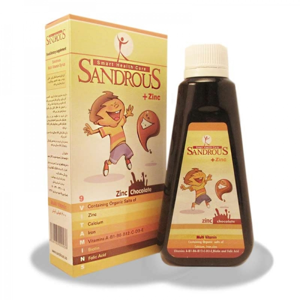 شربت مولتی ویتامین + زینک سندروس | Sandrous + Zinc 200 ml