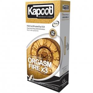 کاندوم تاخیری Orgasm Fire X3 کاپوت