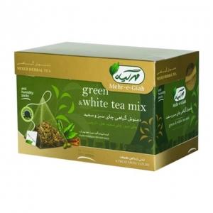 دمنوش چای سبز و سفید مهرگیاه