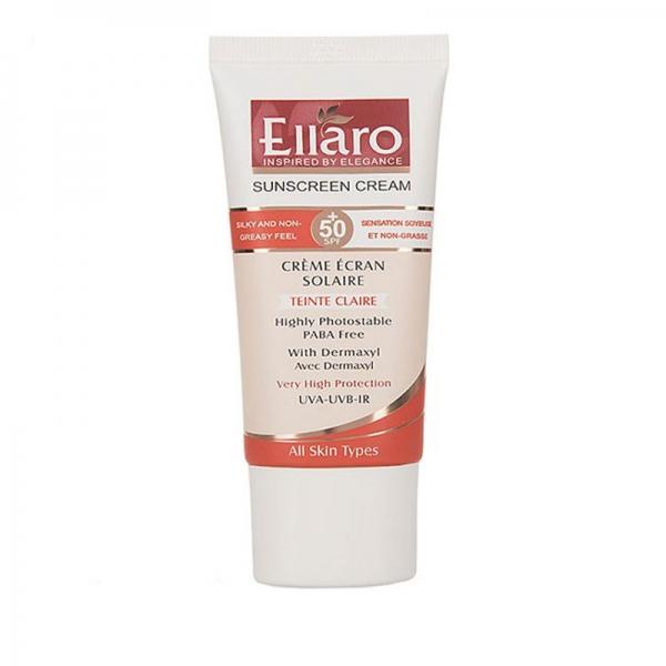 کرم ضد آفتاب مناسب انواع پوست با SPF50 بژ روشن الارو