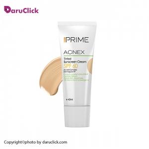 کرم ضد آفتاب رنگی پریم مدل Acnex Tinted SPF60 بژ روشن