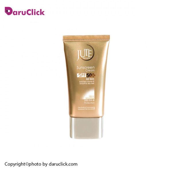 کرم ضدآفتاب spf50 مناسب انواع پوست بژ طبیعی ژوت