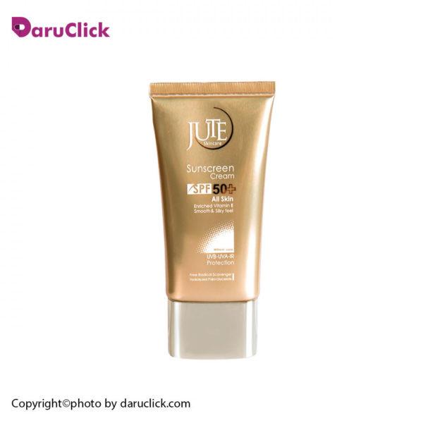 کرم ضدآفتابspf50 مناسب انواع پوست بی رنگ ژوت