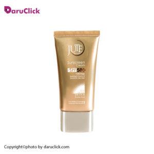 کرم ضد آفتاب SPF 50 مناسب پوست چرب (بژ روشن) ژوت