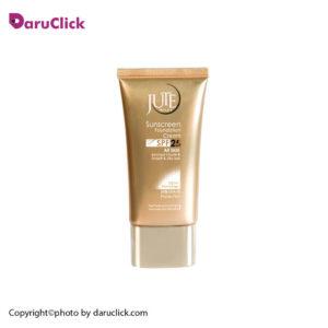 کرم پودر حاوی ضدآفتاب SPF25 مناسب انواع پوست بژ طبیعی ژوت