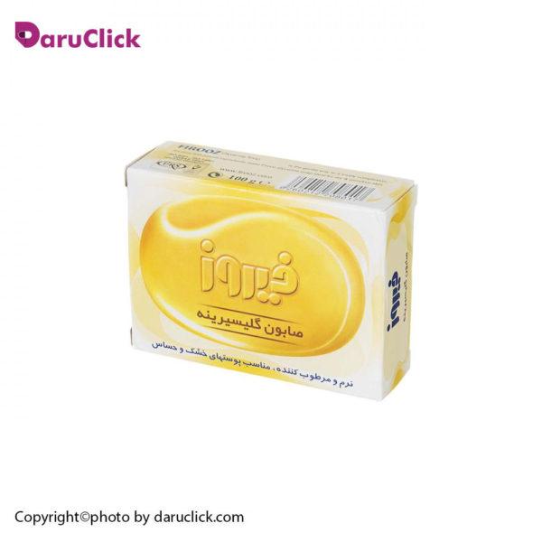صابون گلیسیرینه فیروز مناسب پوست های خشک و حساس فیروز