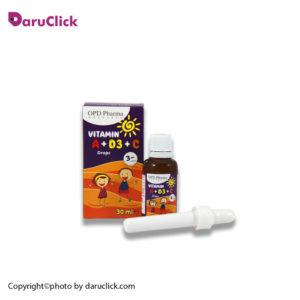 قطره ویتامین آ، د3 و سی او پی دی فارما