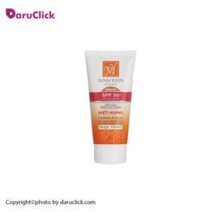 کرم ضد آفتاب ضد چروک رنگی بژ SPF 50 مای