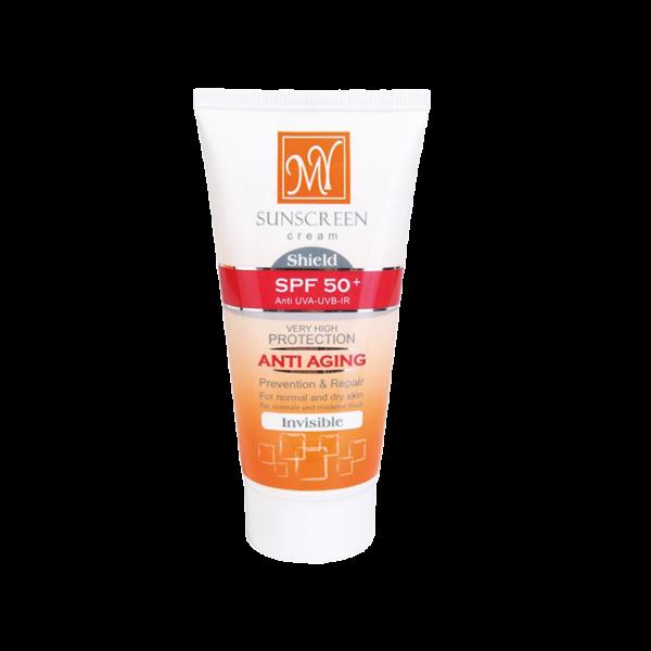 کرم ضد آفتاب SPF 50 ضدچروک پوستهای خشک و معمولی مای