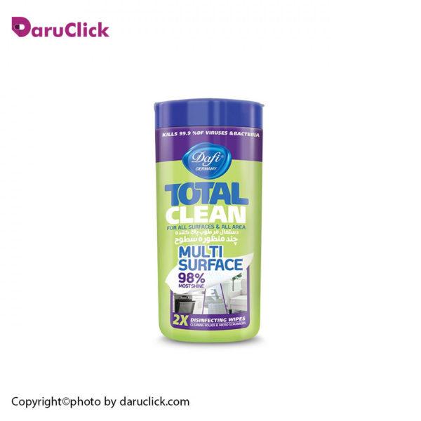 دستمال مرطوب تمیزکننده سطوح دافی مدل آنتی باکتریال