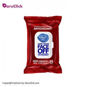 دستمال مرطوب پاک کننده آرایش آنتی اکسیدان درب دار مدل دافی