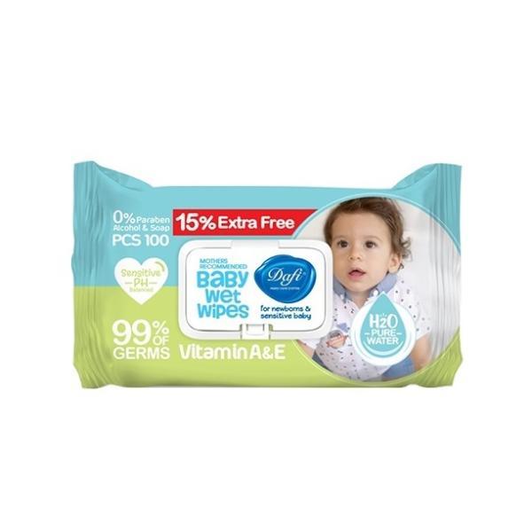 Dafi Vitamin A&E Baby Wipes