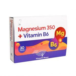 قرص منیزیم ۳۵۰ و ویتامین ب ۶ ویتامین هوس
