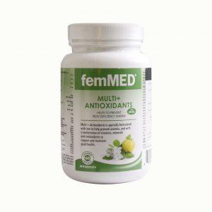 کپسول مولتی ویتامین و آنتی اکسیدان به همراه آهن فم مد