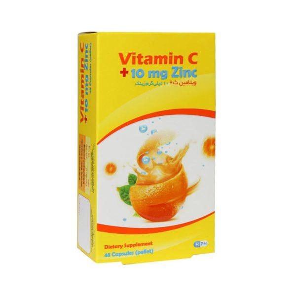 کپسول ویتامین C و ۱۰ میلی گرم زینک هگمتان دارو غرب