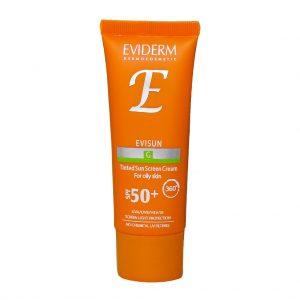 کرم ضد آفتاب رنگی مناسب پوست چرب SPF50 اویدرم