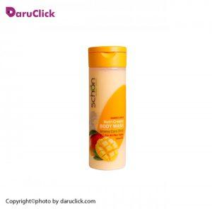 شامپو بدن کرمی مغذی شیر انبه شون
