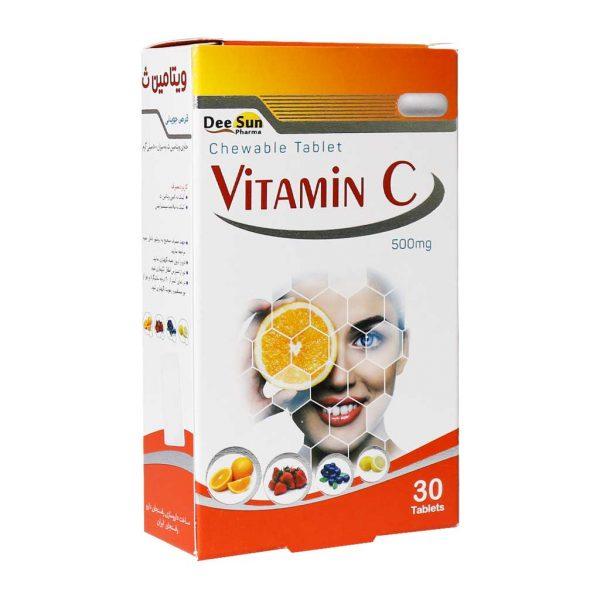 قرص جویدنی ویتامین سی دی سان فارما