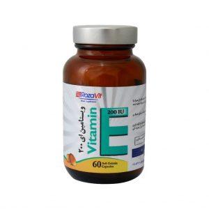 سافت ژل ویتامین ای 200IU رزاویت